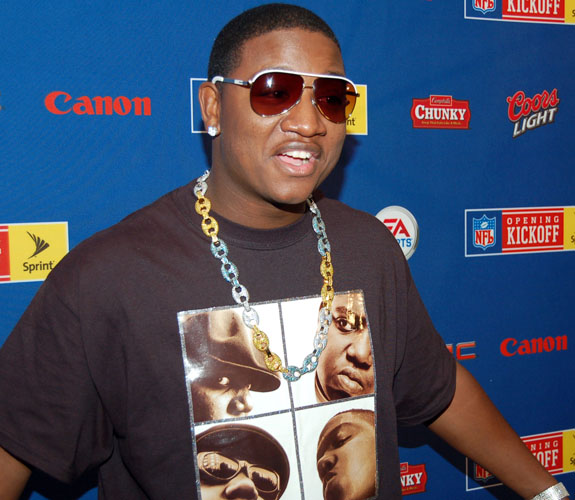 Jasiel Robinson, a.k.a. Yung Joc, poses for photos at the NFL Kickoff Concert news conference at the Loews Hotel on Miami Beach, Fla.